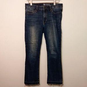 Gap   Raw Hem Crop Kick Jeans - 4